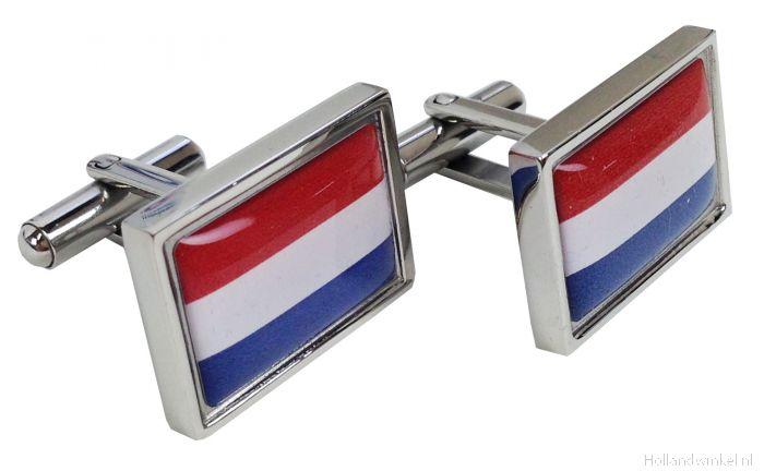 Nijmegen City Netherlands Flag Cufflinks Tie Clip Box Gift Set
